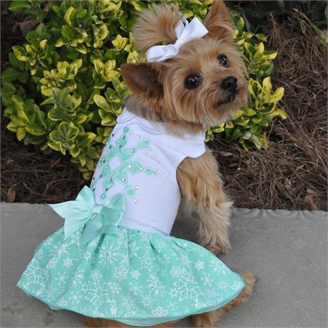 Doggie Design Turquoise Crystal Dog Dress With Matching Leash,Large,Each,66886 DOD66886