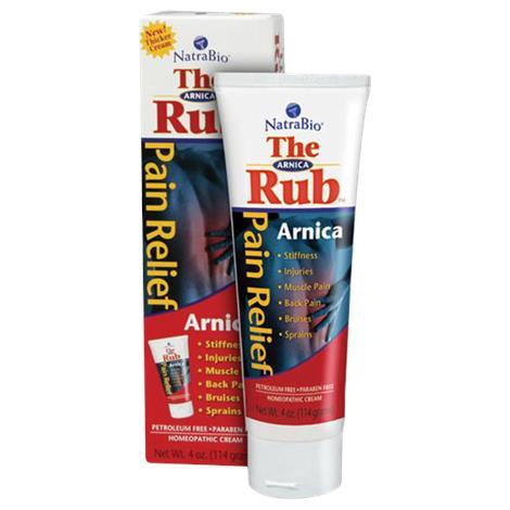 Image of NatraBio Arnica Rub Cream,4oz Tube,Each,82077
