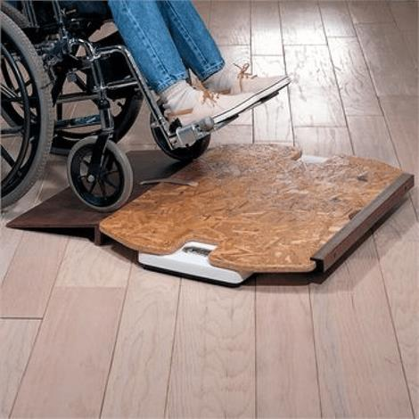 """Platform Scale for Extra-Wide Wheelchair,24.5"""" L x 39"""" W,Each,651402"""