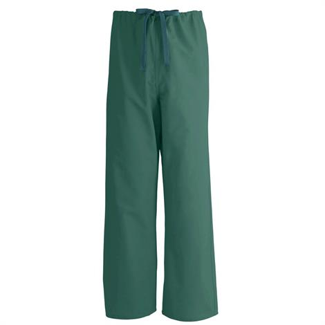 Medline AngelStat Unisex Reversible Drawstring Scrub Pant- Hunter Green,2X-Large,Each,600NHGXXL-CA