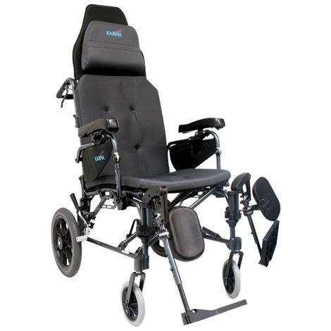 "Karman Healthcare Ergonomic V-seating Recliner Wheelchair,Seat 16""W x 18""D,Each,MVP502TP-16"