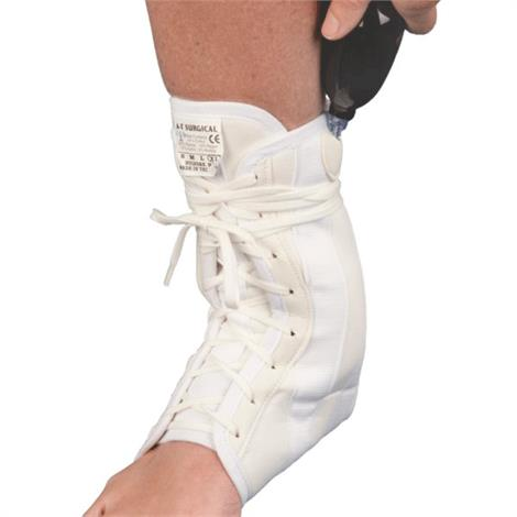 "AT Surgical Lace Up Canvas Ankle Brace With Double Air Bladder,Large,10"" to 11"",Each,388-A-L"