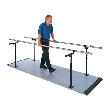 """Hausmann Econo Platform Mounted Parallel Bars,10""""L x 15""""-28""""W x 28""""-41""""H,Each,S-320"""