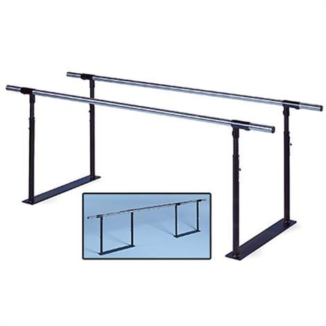 """Hausmann Folding Parallel Bars,7""""L x 25""""W x 28"""" - 41""""H,Each,1319"""