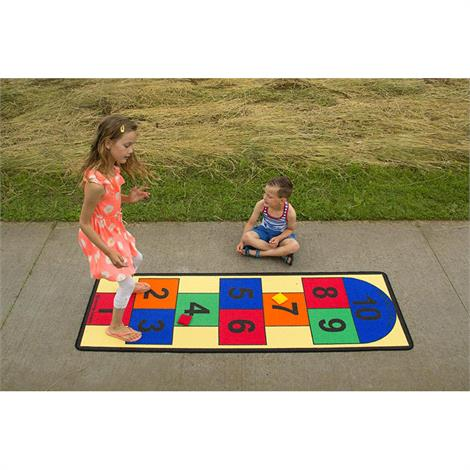 Childrens Factory Hopscotch Carpet,79 x 26 inch,Each,LC121