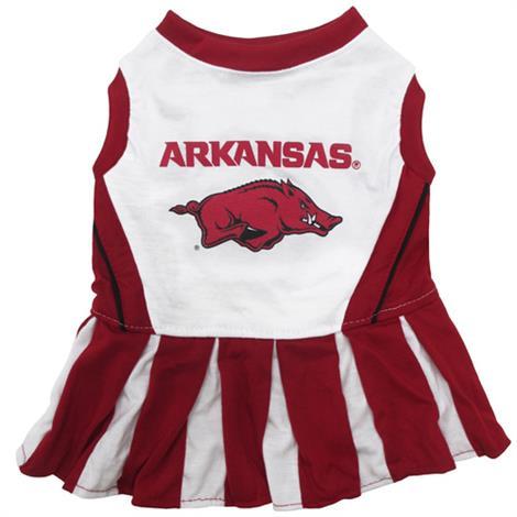 First Arkansas Razorbacks Cheerleader Dog Dress,Medium,Each,ARK-4007