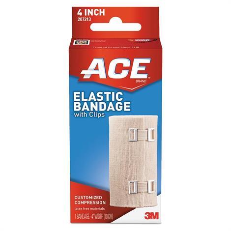 """3M ACE Elastic Bandage With E-Z Clips,2"""" 3M ACE Elastic Bandage,72/Pack,207310"""