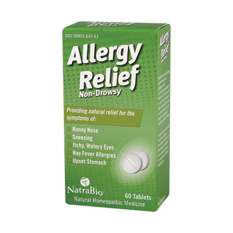NatraBio Allergy Relief Non-Drowsy Tablets,60 Tablets,Each,ECW737411