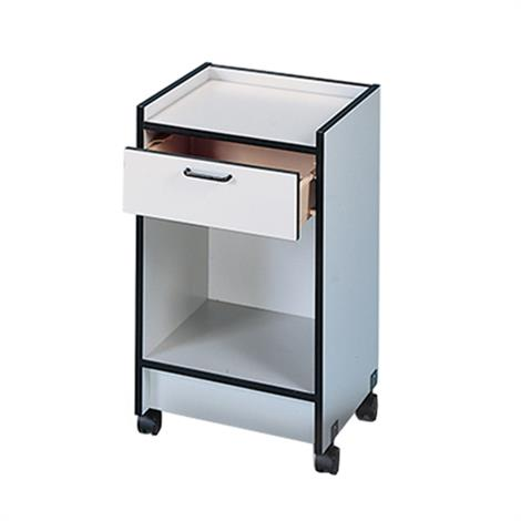 Hausmann Open Storage Mobile Cabinet,Folkstone Gray,Each,9029-8-927