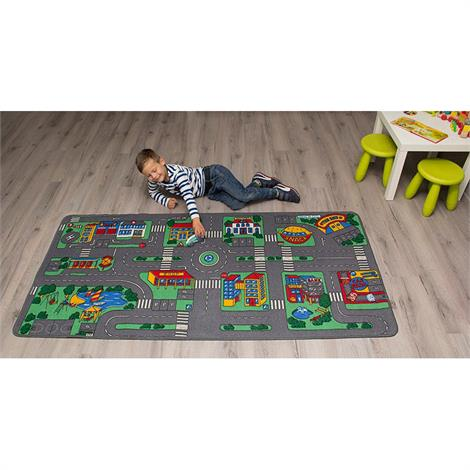 Childrens Factory City Play Carpet,79 x 36 inch,Each,LC104