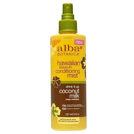 Alba Botanica Hawaiian Leave-In Conditioning Mist,8oz,Bottle,Each,BWC53980
