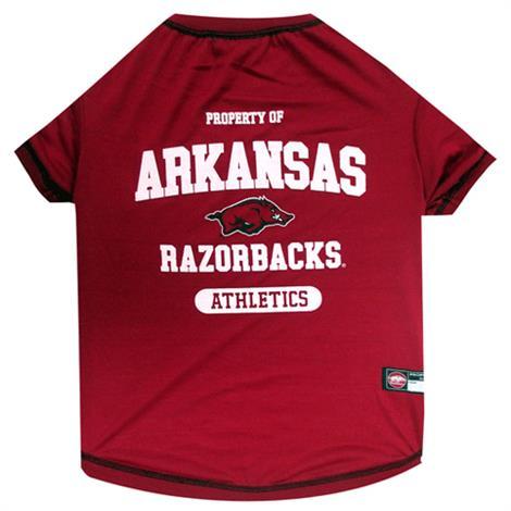 First Arkansas Razorbacks Dog Tee Shirt,Large,Each,ARK-4014