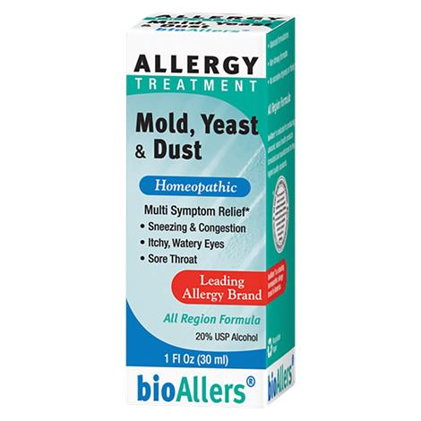Bioallers Mold,Yeast And Dust Unflavored Allergy Treatment Liquid,1 x 1 Oz,Each,82181