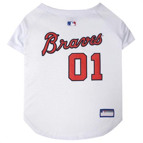 First Atlanta Braves Baseball Dog Jersey,Large,Each,BRV-4006