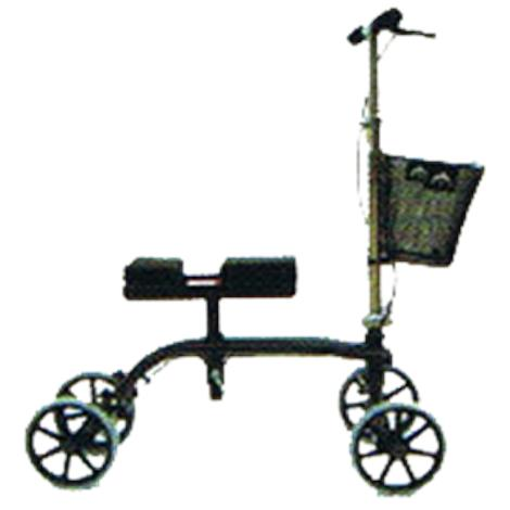 Rose Healthcare Deluxe Mobile Knee Scooter With Basket,For Adults 4ft 10 to 6ft 2,Each,1005D