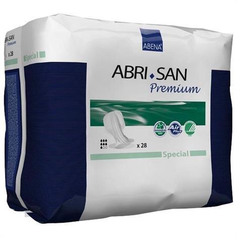 Abena Abri-San Special Fecal Incontinence Pad,37cm x 73cm,2000 ml Abosrbency,28/Pack,4Pk/Case,300200