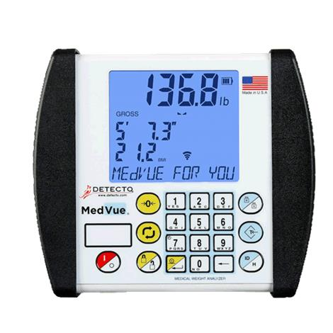 """Detecto MedVue Digital Weight Analyzer,6.75""""H x 7.63""""W x 1.75""""D,Each,MV1"""