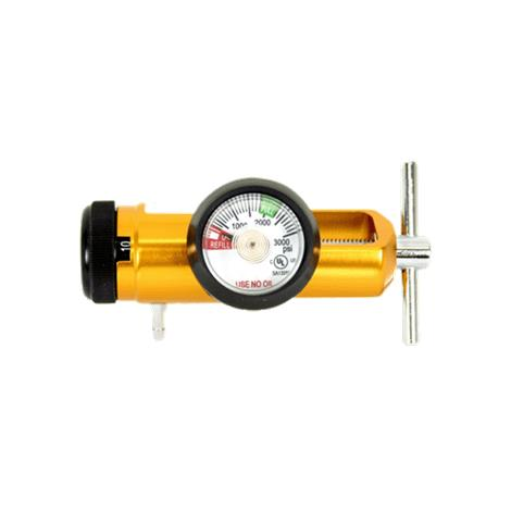Gentec Medical Click Style Air Regulator with Hose Barb Outlet,5-5/8L x 1-3/8 Diameter (14.3cm x 3.5cm),Each,287MA-15LY