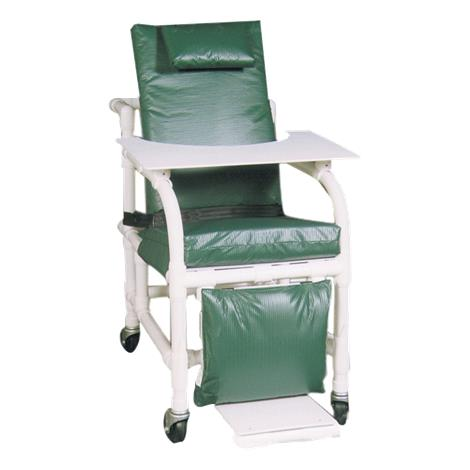 MJM International Extra Wide 3-Position Recline Geri Chair,Forest Green,Each,524-SL