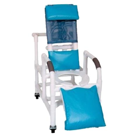 MJM International Pediatric Reclining Shower Chair with Elevated Leg Extension,Forest Green,Each,193-PED
