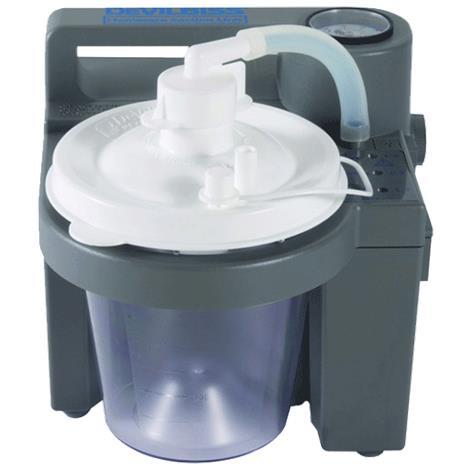 DeVilbiss Vacu-Aide 7305 Series Homecare Suction Unit With Battery,Suction Unit With External Filter,Each,7305P-D-EXF