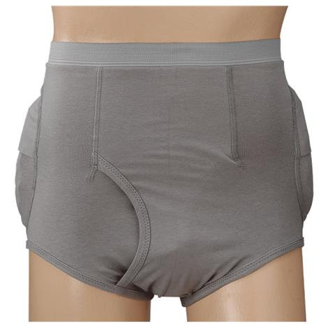 "Posey Community Hipsters Men Brief with Removable Standard Pad,Large,Waist Size: 34"" to 38"",Hip Size: 41"" to 45"",Each,6031L"