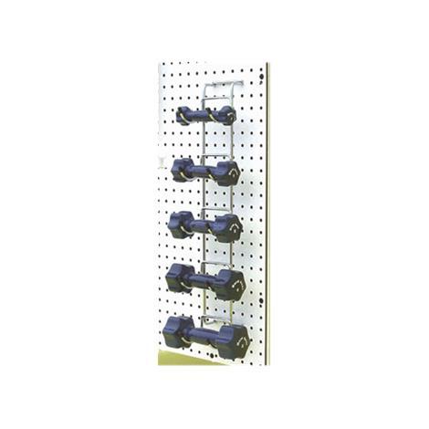 Elginex Elgin Wall-Mounted Chrome Dumbbell Storage Rack,Dumbbell Rack Only,Each,004-WR6