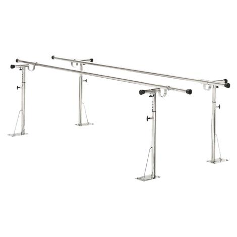 Bailey Floor Mounted Parallel Bars,Length 10ft,4 Posts,Each,BM510