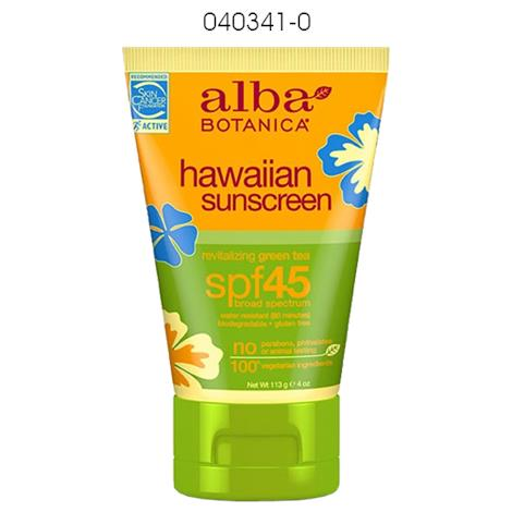 Alba Botanica Hawaiian Sunscreen Lotion,Aloe Vera,Sunblock,SPF 30,Each,040860-9