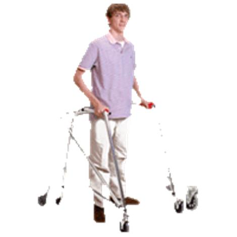 Kaye Posture Control Four Wheel Walker With Front Swivel And Silent Rear Wheel For Pre Adolescent