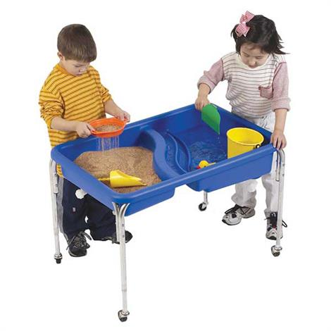 "Childrens Factory Double Basin Neptune Table Without Lid,36"" x 24"" x 18"",Each,1136-18"