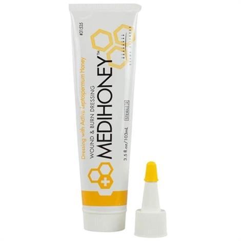 Derma Sciences Medihoney Paste Wound and Burn Dressing,0.5oz (14ml) Tube,10/Pack,31505