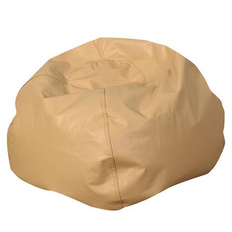 Childrens Factory 35 Inch Round Bean Bag,Almond,Each,CF610-086