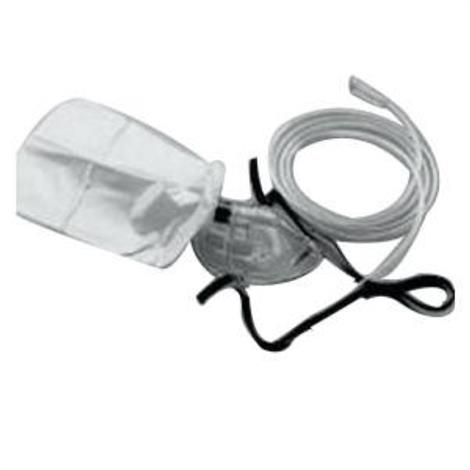 Salter Labs Elongated High Concentration Partial Rebreathing Mask,7Ft Three Channel Safety Tube,Each,8120-7-50