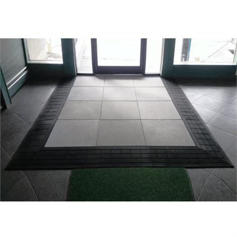 SafePath Three-Sided EntryLevel Landing Ramp - 1-1/2 Inch Height,60L x 48W x 1-1/2H,Black Rubber,Each,EL3 1.5 6048 B