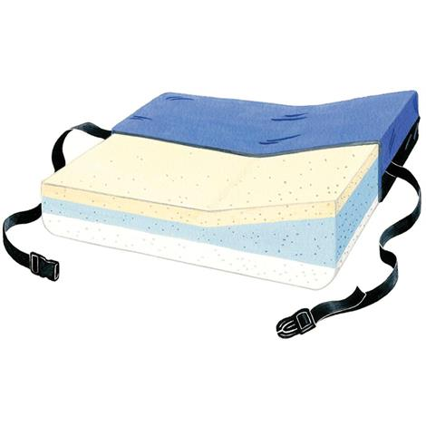 """Skil-Care Lateral Positioning Cushion With Low Shear II Cover,18""""W x 16""""D x 3.5""""H x 5""""H,Each,756010"""