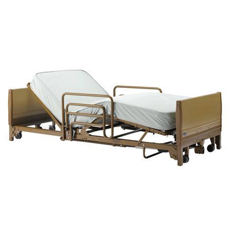 Invacare IVC Full Electric Low Home Care Bed Package With Innerspring Mattress And Assist Bed Rails,Bed Package,Each,BED38LOW-1633