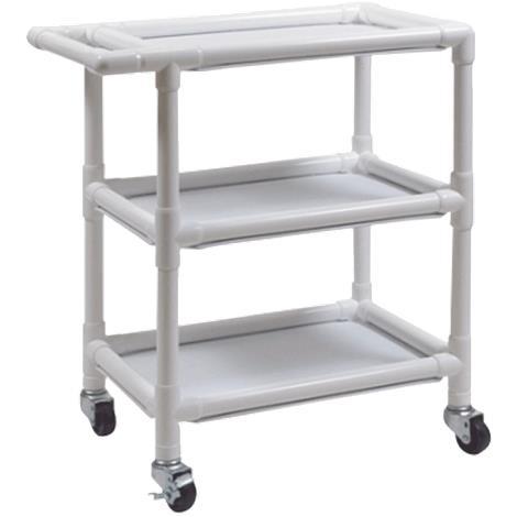 Graham-Field PVC Three Shelf Utility Cart,Large Cart,Each,8530