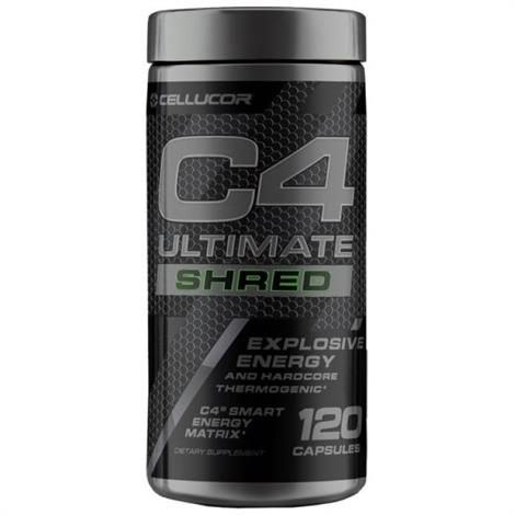 Cellucor C4 Ultimate Shred Capsule Body Building,Uned,120c,Each,3620392