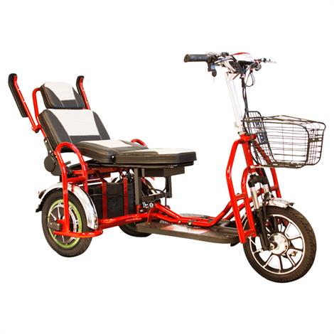 EWheels EW-02 Folding Heavy-Duty Bariatric Scooter,Red,Each,EW-02R EWHEW-02R