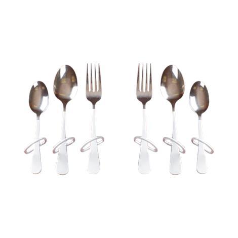 Maddak Finger Loop Utensils,Dinner Fork,Left-hand,Each,F746170007