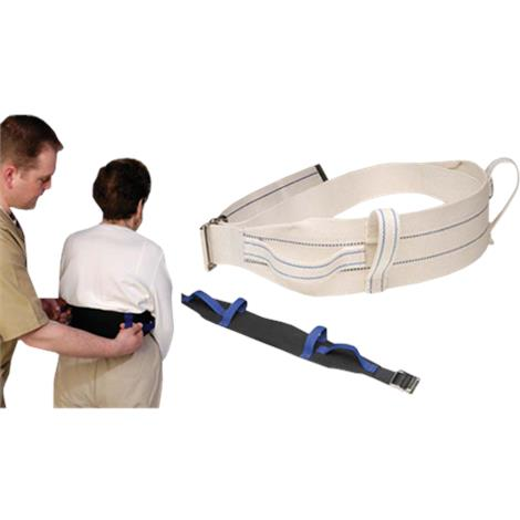 Humane Restraints Deluxe Gait Belt,Cotton,White,Each,HRC-CD