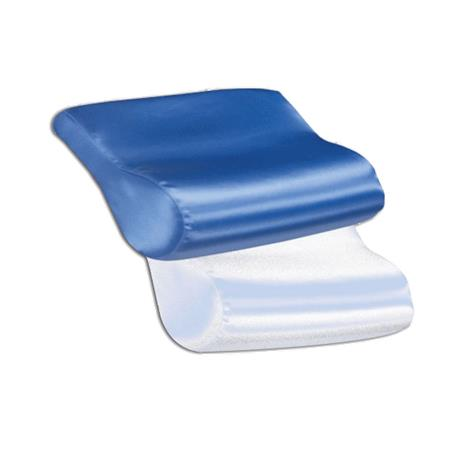 Core AB Contour Satin Cervical Pillow,Blue,Each,FOM-109-BL