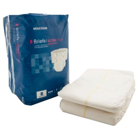 McKesson Ultra Plus Bariatric Tab Closure Adult Briefs,3X-Large,Fits Waist Up to 95,8/Pack,4Pk/Case,BRBAR