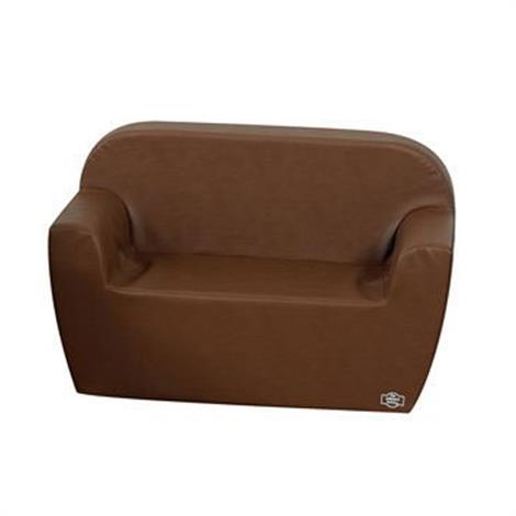 """Childrens Factory Club Sofa,Walnut,35"""" x 17.5"""" x 22"""",Each,CF705-585"""
