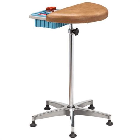 Clinton Half Round Stationary Phlebotomy Stand,0,Each,0