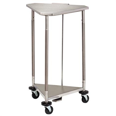 Clinton 18 Inch Stainless Steel Triangular Hamper with Lid,Stainless Steel Lid,Each,HS-54