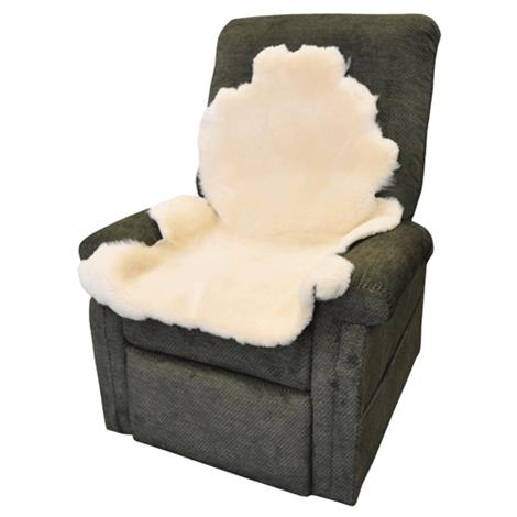 "Complete Medical Soft N Plush Natural Sheepskin Pad,Sheep Wool Length: 1/2"" to 5/8"",Each,BJ145100"