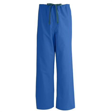 Medline AngelStat Unisex Reversible Drawstring Scrub Pants - Sapphire,3X-Large,Each,M600NHT3XL-CM