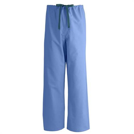 Medline AngelStat Unisex Reversible Drawstring Scrub Pants- Ceil Blue,3X-Large,Each,M600NTH3XL-CM